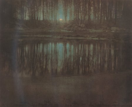 the pond-moonlight