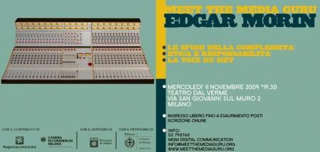 Meet The Media Guru 2009 - Edgar Morin